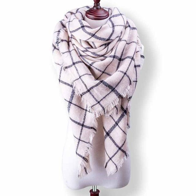 New Winter Plaid Scarf Women Warm Scarf Shawls Ladies Basic Scarves Pashmina Luxury Brand-Accessories-WOWEXPRESS Store-B42-EpicWorldStore.com
