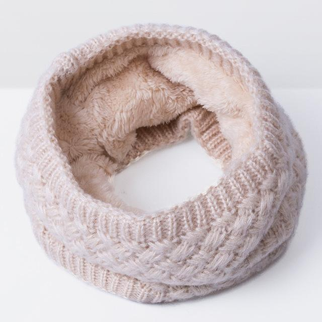 New Winter Scarf For Women Men General Baby Scarf Thickened Wool Collar Scarves Boys-Accessories-BoomUp Store-Beige-EpicWorldStore.com