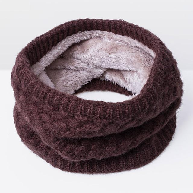 New Winter Scarf For Women Men General Baby Scarf Thickened Wool Collar Scarves Boys-Accessories-BoomUp Store-Brown-EpicWorldStore.com