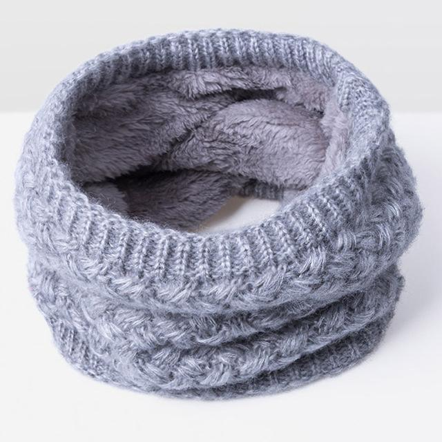 New Winter Scarf For Women Men General Baby Scarf Thickened Wool Collar Scarves Boys-Accessories-BoomUp Store-Gray-EpicWorldStore.com