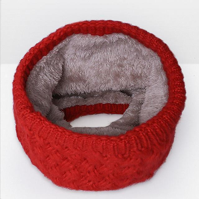 New Winter Scarf For Women Men General Baby Scarf Thickened Wool Collar Scarves Boys-Accessories-BoomUp Store-Red 2-EpicWorldStore.com