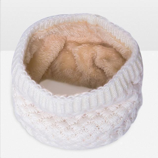 New Winter Scarf For Women Men General Baby Scarf Thickened Wool Collar Scarves Boys-Accessories-BoomUp Store-White-EpicWorldStore.com