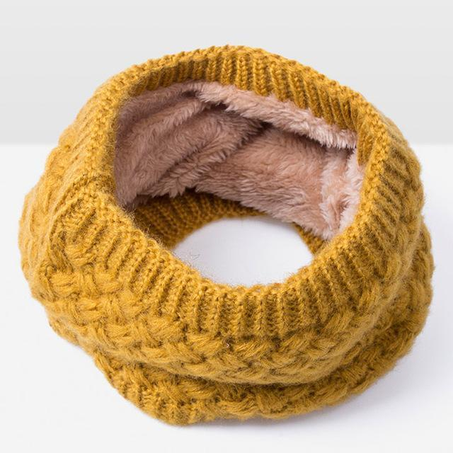 New Winter Scarf For Women Men General Baby Scarf Thickened Wool Collar Scarves Boys-Accessories-BoomUp Store-Yellow-EpicWorldStore.com