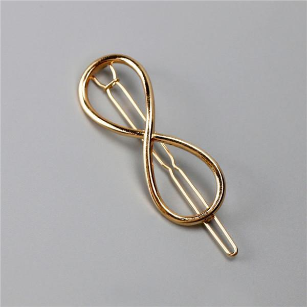 New Women Girls Gold/Silver Plated Metal Triangle Circle Moon Hair Clips Metal Circle-Accessories-Tansy Store-Golden Unicom-EpicWorldStore.com
