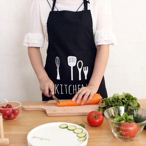 New Women Men Apron Commercial Restaurant Home Bib Spun Poly Cotton Kitchen Aprons-Household Cleaning-Alice's Top Store-White-EpicWorldStore.com