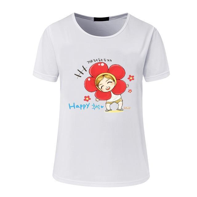 New Womens Bts Summer Cartoon T-Shirt South Korea Bullet-Proof Youth Group Spent Beautiful Men-Tops & Tees-kitty female Store-05-S-EpicWorldStore.com