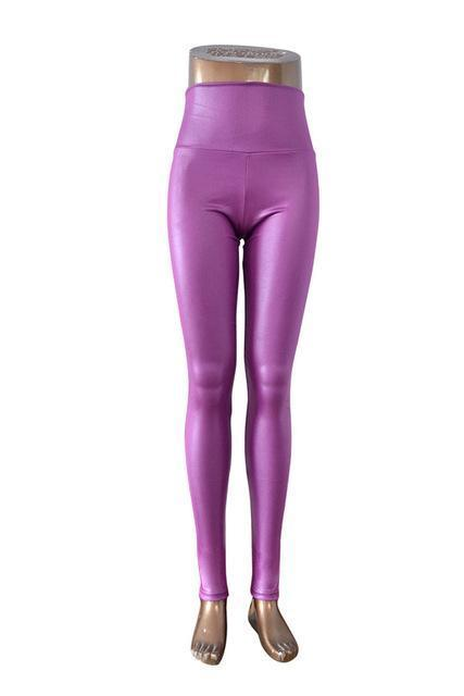 New Womens Stylish Skinny Faux Leather High Waist Leggings Pants Xs/S/M/L/Xl 21 Colors-Bottoms-Dissimilar Official Store-light purple-XS-EpicWorldStore.com