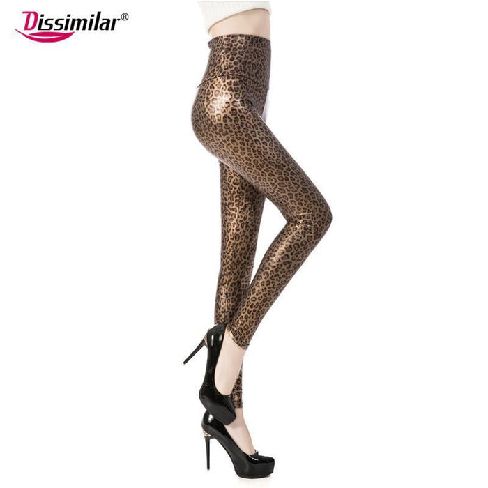 New Womens Stylish Skinny Faux Leather High Waist Leggings Pants Xs/S/M/L/Xl 21 Colors-Bottoms-Dissimilar Official Store-Matt black-XS-EpicWorldStore.com