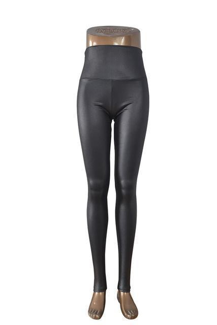 New Womens Stylish Skinny Faux Leather High Waist Leggings Pants Xs/S/M/L/Xl 21 Colors-Bottoms-Dissimilar Official Store-Satin Black-XS-EpicWorldStore.com