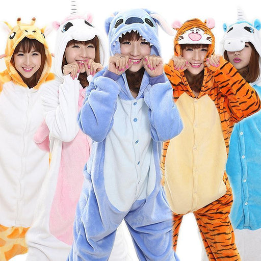 New Year Autumn And Winter Pajama Sets Cartoon Sleepwear Women Pajama Flannel Animal Stitch-Sleep & Lounge-ANIMALCARTOON Official Store-Minons-S-EpicWorldStore.com