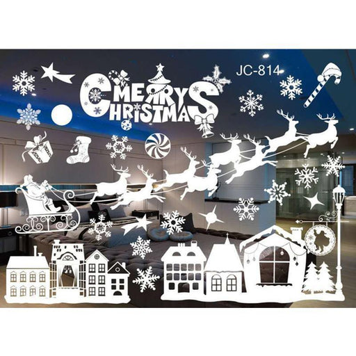 New Year Window Glass Pvc Wall Sticker Christmas Diy Snow Town Wall Stickers Home Decal Christmas-Home Decor-Sunbeam-JC813-EpicWorldStore.com