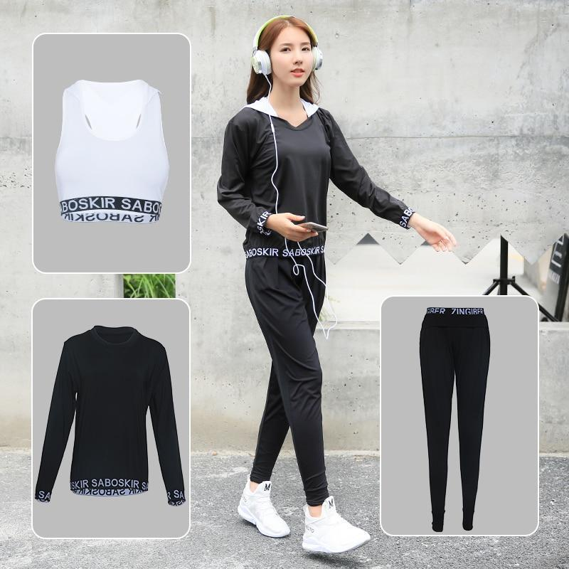 806d52828a New Yoga Set Women Sport Running Hoodie Bra Breathable Vest Tank Tops Gym T- Shirt