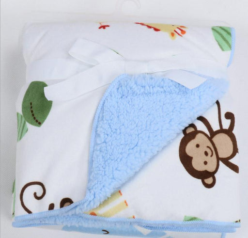 Newborn Baby Blanket Winter Autumn Kids Thick Cotton Cashmere Blanket Travel Receiving Blankets-Baby Bedding-Qt Little Things Store-Color 1-EpicWorldStore.com