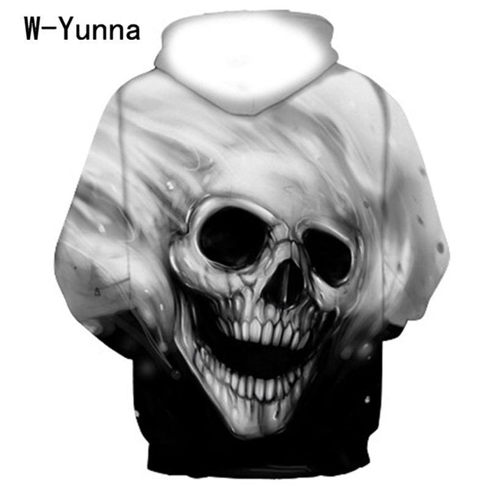 Newest Skull Print 3D Hooded Pullovers Full Sleeve Winter Autumn Hoodies Sporting Tracksuits-Hoodies & Sweatshirts-Sunny knitting international Co.,Ltd-S-EpicWorldStore.com