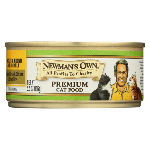 Newmans Own Organics Premium Cat Food - Chicken And Brown Rice - Case Of 24 - 5.5 Oz.-Eco-Friendly Home & Grocery-Newman's Own Organics-EpicWorldStore.com