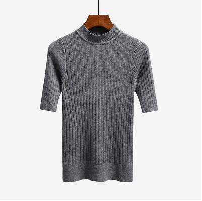 Nijiuding New Knitted Slim Pullover Women Turtleneck Knitted Sweater Shirt Female All-Match-Sweaters-LoveFashion Store-gray-EpicWorldStore.com