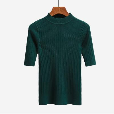 Nijiuding New Knitted Slim Pullover Women Turtleneck Knitted Sweater Shirt Female All-Match-Sweaters-LoveFashion Store-green-EpicWorldStore.com