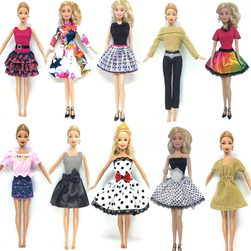252374dc294d3 Nk 10 Set/Lot Princess Doll Dress Noble Party Gown For Barbie Doll Design  Outfit Best Gift