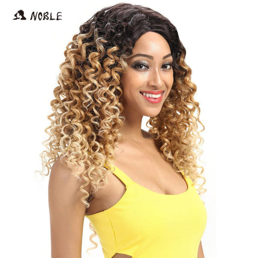Noble Loose Wave Lace Front Wigs 26 Inch Long Ombre 613 Synthetic Cosplay Wigs For Black Women-Noble Official Store-EpicWorldStore.com