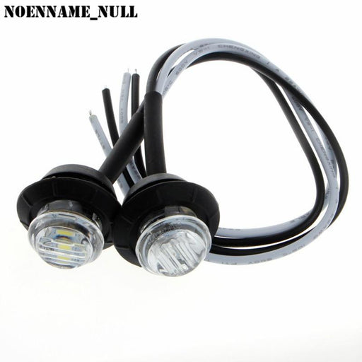 "Noenname_Null 2X Mini 3/4"" Round Side 3 Led Marker Trailer Car Bullet Light Waterproof White-ATV,RV,Boat & Other Vehicle-co-co fashion store-EpicWorldStore.com"