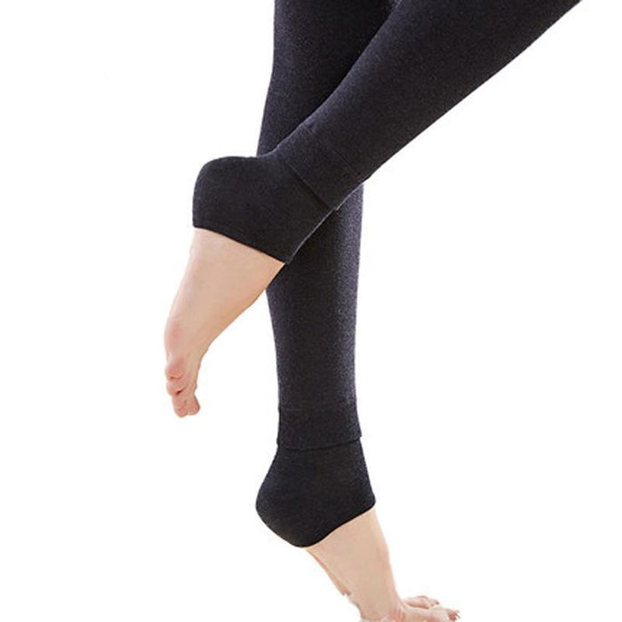 Normov Womens Winter Plus Cashmere Leggings Big Size Warm Super Elastic Faux Velvet-Bottoms-NORMOV Trend Store-Black-S-EpicWorldStore.com