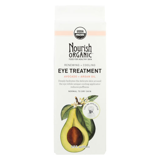Nourish Organic Eye Treatment Cream - Renewing And Cooling - Avocado And Argan Oil - .5 Oz-Eco-Friendly Home & Grocery-Nourish-EpicWorldStore.com