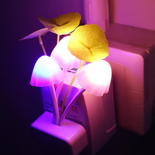 Novelty Us & Eu Plug Night Light Induction Dream Mushroom Fungus Led Lamp 3 Leds Mushroom Lamp Led-LED Lamps-iTimo Official Store-US Plug-EpicWorldStore.com