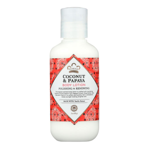 Nubian Heritage Body Lotion - Coconut And Papaya - 3 Fl Oz - 1 Case-Eco-Friendly Home & Grocery-Nubian Heritage-EpicWorldStore.com