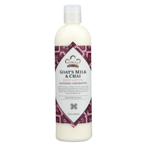 Nubian Heritage Lotion - Goats Milk And Chai - 13 Fl Oz-Eco-Friendly Home & Grocery-Nubian Heritage-EpicWorldStore.com