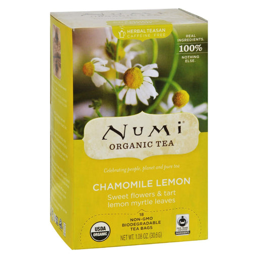 Numi Organic Tea Caffeine Free Chamomile Lemon - 18 Tea Bags - Case Of 6-Eco-Friendly Home & Grocery-Numi Tea-EpicWorldStore.com