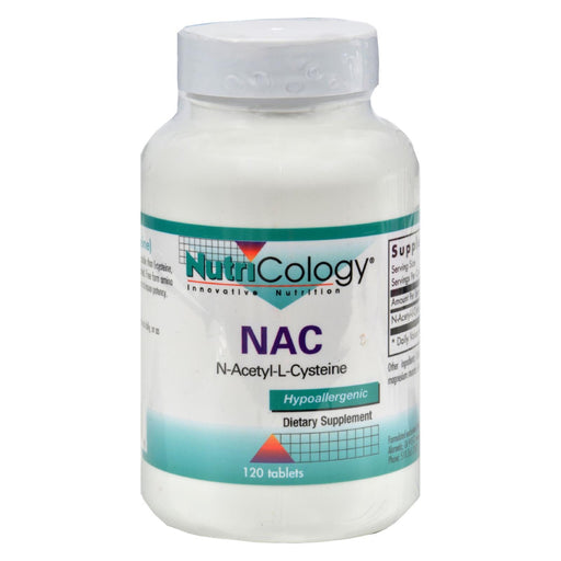 Nutricology Nac N-Acetyl-Cysteine - 500 Mg - 120 Tablets-Eco-Friendly Home & Grocery-Nutricology-EpicWorldStore.com