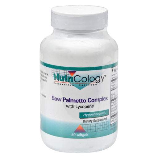 Nutricology Saw Palmetto Complex With Lycopene - 60 Softgels-Eco-Friendly Home & Grocery-Nutricology-EpicWorldStore.com