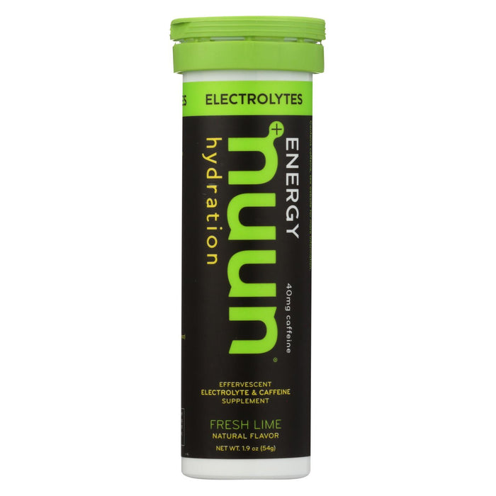 Nuun Hydration Drink Tab - Energy - Lemon-Lime - 10 Tablets - Case Of 8-Eco-Friendly Home & Grocery-Nuun Hydration-EpicWorldStore.com