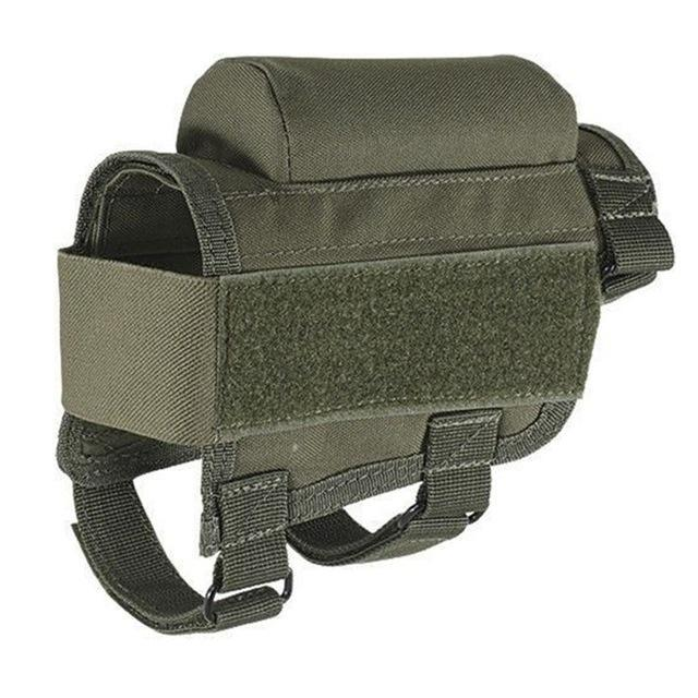 Nylon Tactical Rifle Cheek Rest Riser Pad Ammo Cartridges Holder Carrier  Canvas Pouch Round