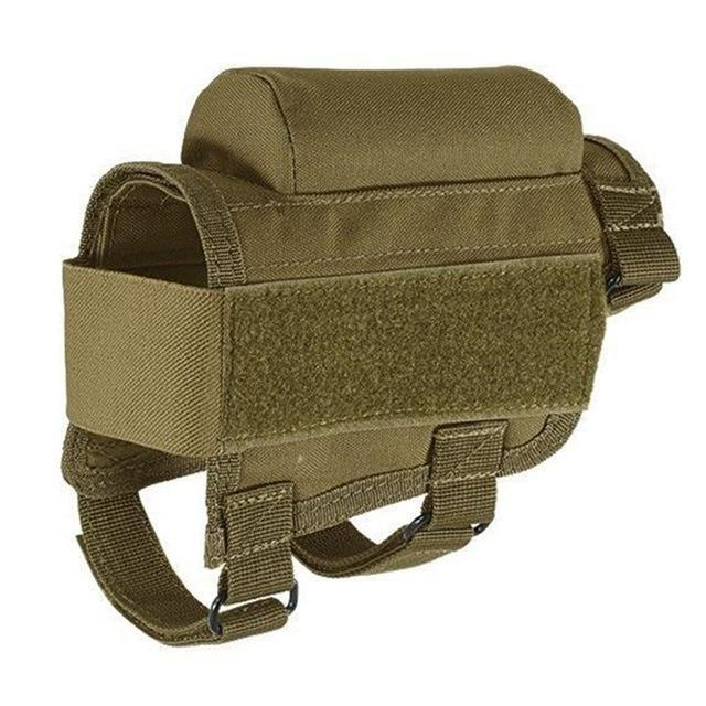 Nylon Tactical Rifle Cheek Rest Riser Pad Ammo Cartridges Holder Carrier Canvas Pouch Round-Hunting-JUST NOW...-Khaki-EpicWorldStore.com