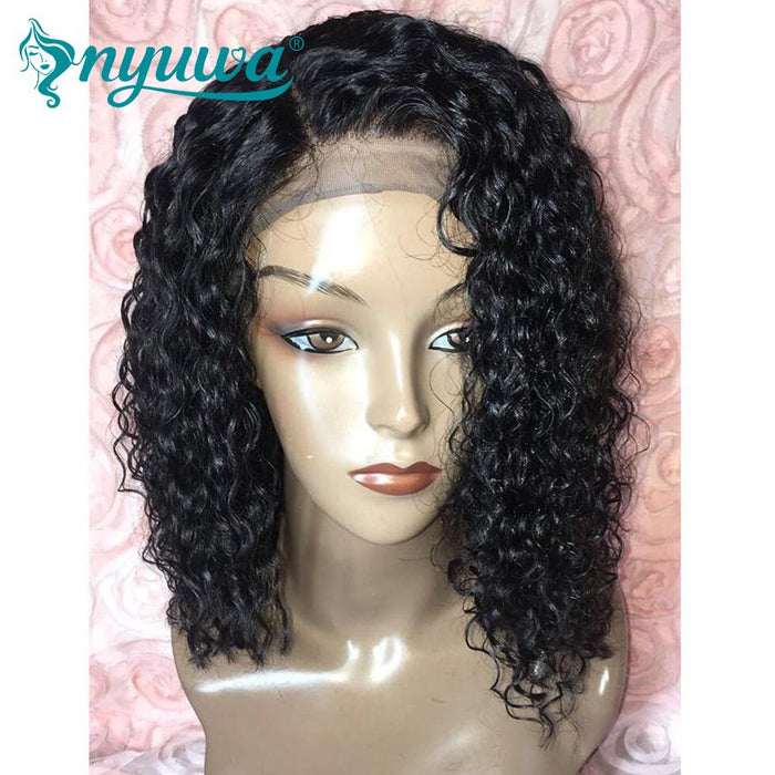 Nyuwa Pre Plucked 360 Lace Frontal Wig Bleached Knots Curly 180