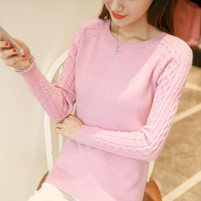 O-Neck Twisted Flower Sweater Women Winter Cashmere Femme Jumpers Long Sleeve Warm Soft Women-Sweaters-GODDESS WAY Store-Pink-S-EpicWorldStore.com