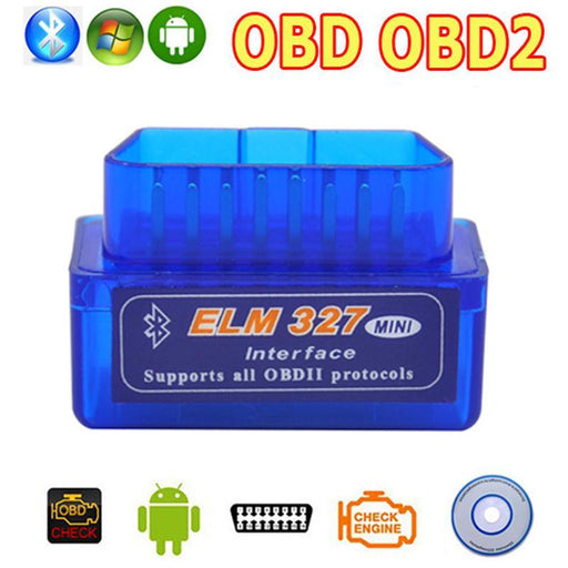 Obd2 Obd Ii Wireless V2.1 Super Mini Elm327 Bluetooth Interface Car Scanner Diagnostic Tool Elm-Car Repair Tools-GK OBD2 CABLE Store-EpicWorldStore.com