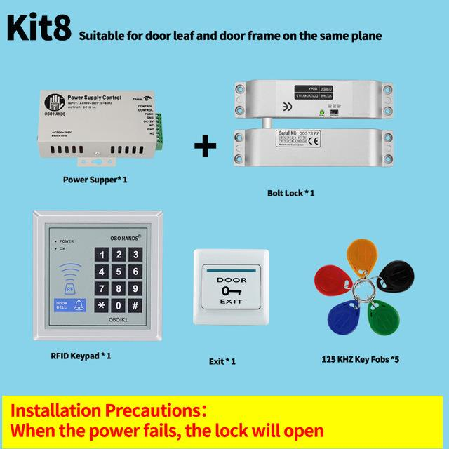 Obo Hands Rfid Access Control System Kit Set With Power Supply+ ...