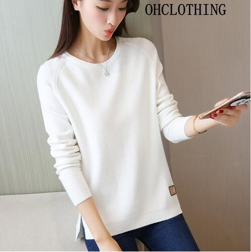 Ohclothing New Spring Korean Short All-Match Winter Sweater Knitted Shirt With Long Sleeves-Sweaters-100 OHCH Store-new long W-S-EpicWorldStore.com