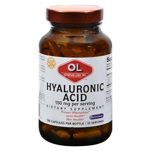 Olympian Labs Hyaluronic Acid With Biocell Collagen Type Ii - 100 Capsules-Eco-Friendly Home & Grocery-Olympian Labs-EpicWorldStore.com