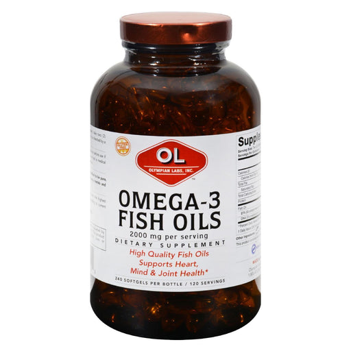 Olympian Labs Omega-3 Fish Oils - 1 G - 240 Softgels-Eco-Friendly Home & Grocery-Olympian Labs-EpicWorldStore.com