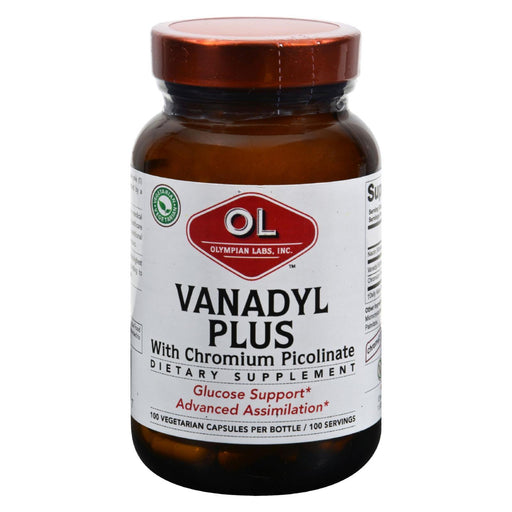 Olympian Labs Vanadyl Plus - 10 Mg - 100 Capsules-Eco-Friendly Home & Grocery-Olympian Labs-EpicWorldStore.com