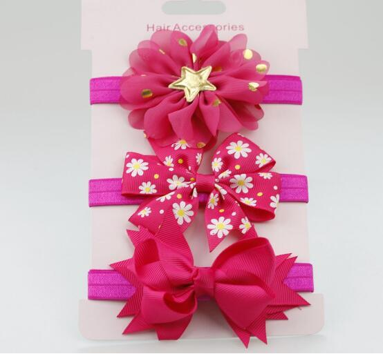 On Sale 3Pc Baby Girl Boy Elastic Flower Headband Children Skinny Stretchy  Bowknot Elastic Hair Band 47e221cd5b6