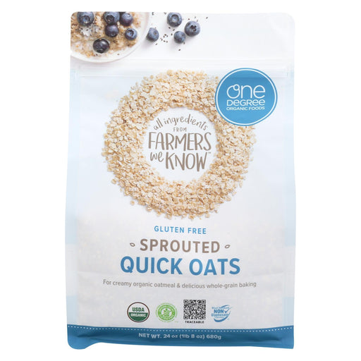 One Degree Organic Foods Organic Quick Oats - Sprouted - Case Of 4 - 24 Oz-Eco-Friendly Home & Grocery-One Degree Organic Foods-EpicWorldStore.com
