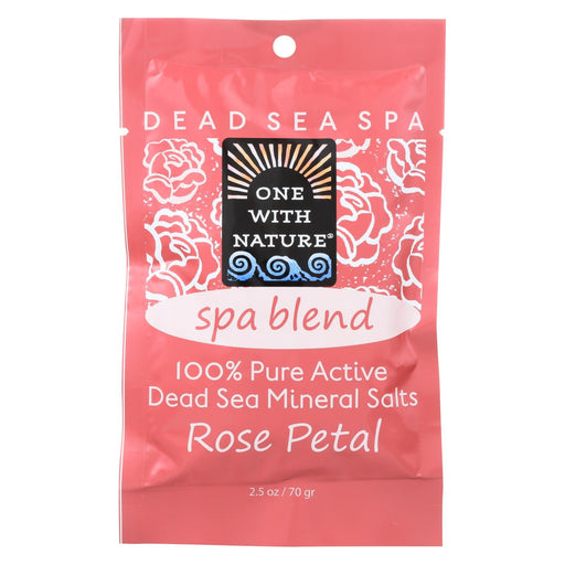 One With Nature Spa Blend Rose Petal Dead Sea Mineral Bath - Salt - Case Of 6 - 2.5 Oz.-Eco-Friendly Home & Grocery-One With Nature-EpicWorldStore.com
