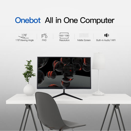 Onebot 21.5In All In One Gaming Desktop Computer Mini Pc Dual Core Intel 4Gb Ddr4 Ram 120G Ssd-DIY Gaming PC-Digital Tech Zone-EpicWorldStore.com
