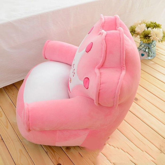 Only Cover No Filling Baby Bean Bag Cartoon Crown Seat Sofa Chair Toddler Nest Puff