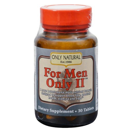 Only Natural For Men Only Ii - 30 Tablets-Eco-Friendly Home & Grocery-Only Natural-EpicWorldStore.com