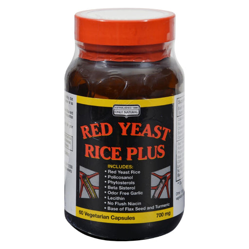 Only Natural Red Yeast Rice Plus - 60 Vcaps-Eco-Friendly Home & Grocery-Only Natural-EpicWorldStore.com